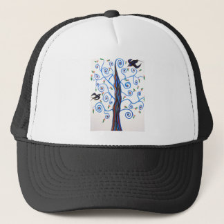 Swallows and the orange tree trucker hat