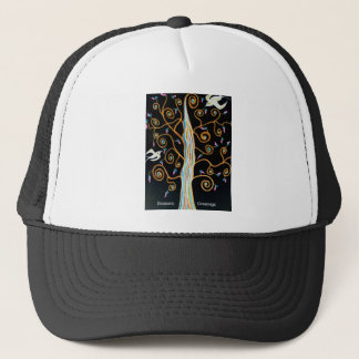 Swallows and tree Seasons Greetings Trucker Hat