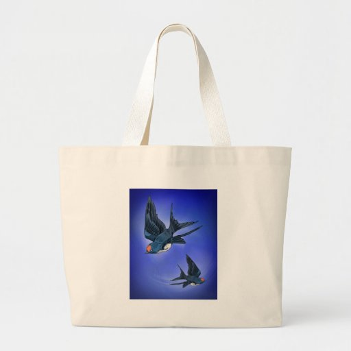 Swallows in flight canvas bags