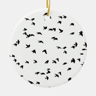Swallows in Flight Bird Print Christmas Ornament