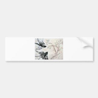 Swallows in the snow bumper sticker