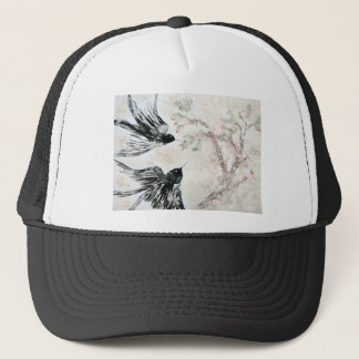 Swallows in the snow trucker hat