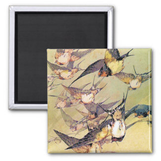 Swallows Square Magnet