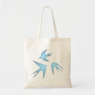 Swallows swallows canvas bags