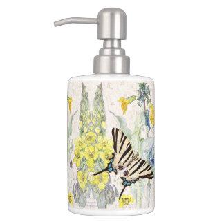 Swallowtail Butterflies Mullein Flowers Bath Set