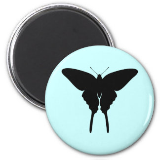 Swallowtail Butterfly 6 Cm Round Magnet