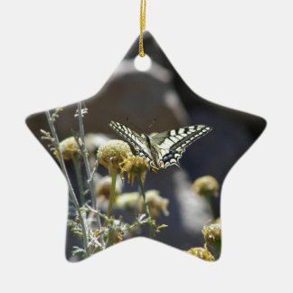 Swallowtail butterfly christmas ornament
