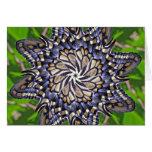 Swallowtail butterfly mandala - Card