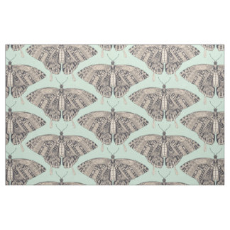 swallowtail butterfly mint basalt fabric