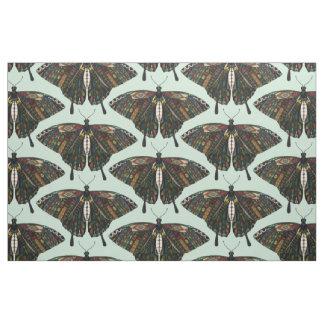 swallowtail butterfly mint fabric