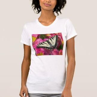 Swallowtail Butterfly on pink T-Shirt