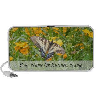 Swallowtail Butterfly on Siberian Wallflowers Notebook Speaker