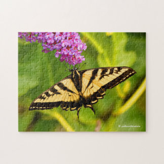 Swallowtail Butterfly on the Butterfly Bush Jigsaw Puzzle