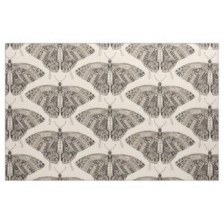 swallowtail butterfly pale peach black fabric