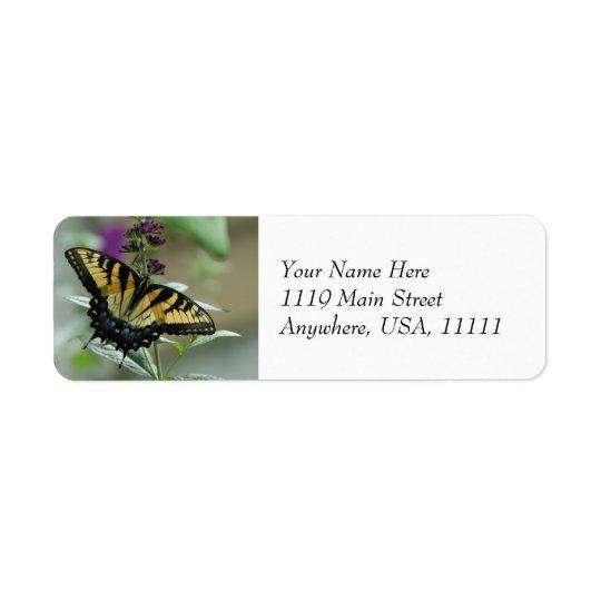 Swallowtail Butterfly Return Address Labels