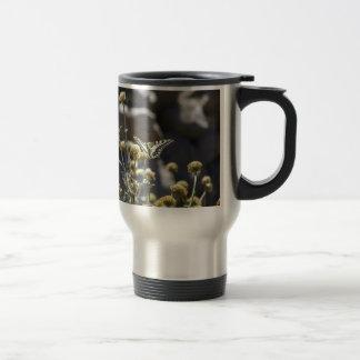 Swallowtail butterfly travel mug