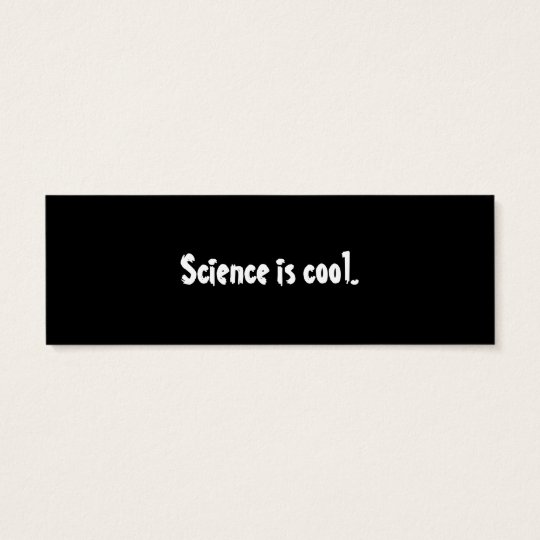 Swallowtail Cat Science Bookmark Mini Business Card
