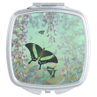 Swallowtail Summer Compact Mirror