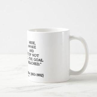 Swami Vivekananda Arise Awake Stop Not 'Til Goal Basic White Mug