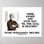 Swami Vivekananda Arise Awake Stop Not Til Goal Print