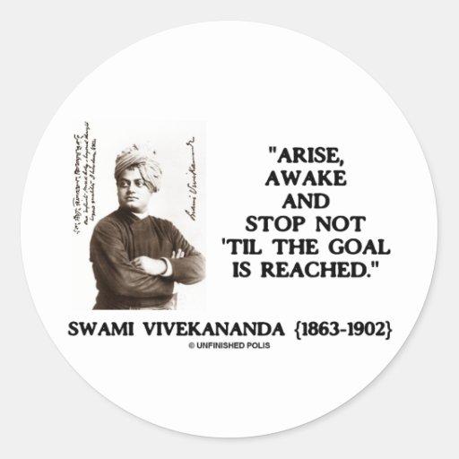 Swami Vivekananda Arise Awake Stop Not 'Til Goal Round Sticker