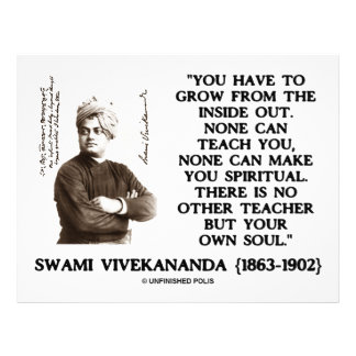 Swami Vivekananda Grow From Inside Out Own Teacher 21.5 Cm X 28 Cm Flyer