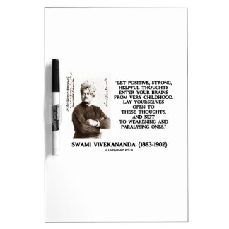 Swami Vivekananda Positive Strong Helpful Thoughts Dry Erase Whiteboards