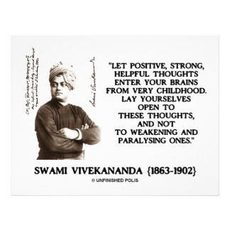 Swami Vivekananda Positive Strong Helpful Thoughts 21.5 Cm X 28 Cm Flyer
