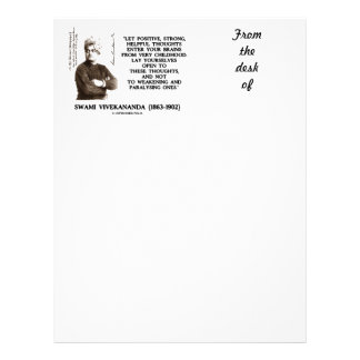 Swami Vivekananda Positive Strong Helpful Thoughts Letterhead Template