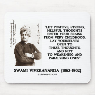Swami Vivekananda Positive Strong Helpful Thoughts Mouse Pad