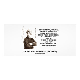 Swami Vivekananda Positive Strong Helpful Thoughts 10 Cm X 23 Cm Rack Card