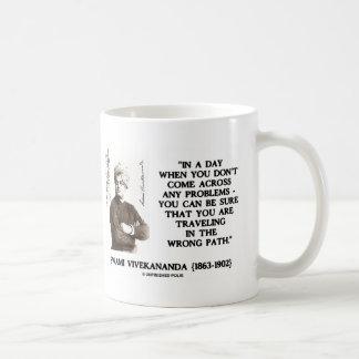 Swami Vivekananda Traveling In Wrong Path Basic White Mug