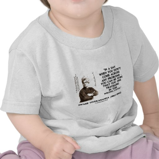 Swami Vivekananda Traveling In Wrong Path T-shirts