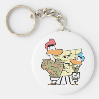 Swamp Army Officer On The Misson Basic Round Button Key Ring