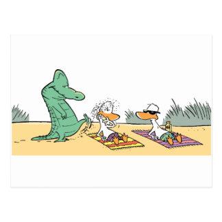 Swamp Beware of Croc Postcard