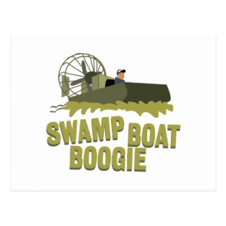 Swamp Boat Boogie Postcard