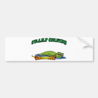 Swamp Country Louisiana Bumper Sticker