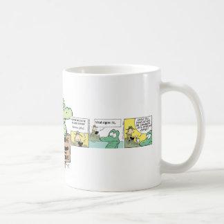 Swamp Crocodile Cartoon Basic White Mug