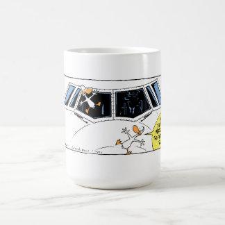 Swamp Ducks Mid Air Collision Coffee Mug