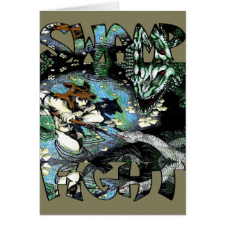Swamp Fight Greeting Card