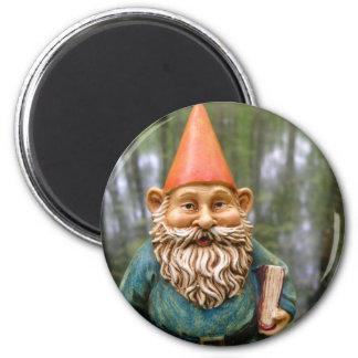 Swamp Gnome Round Magnet