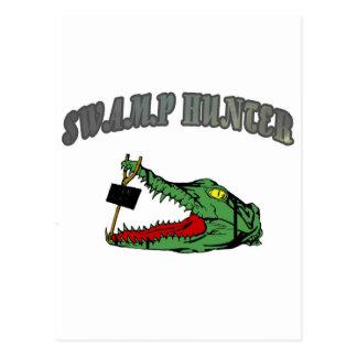Swamp Hunter Gator Head Post Cards