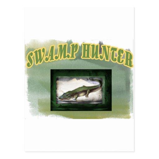 Swamp Hunter Layered Camo Gator Post Cards