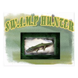 Swamp Hunter Layered Camo Gator Postcard