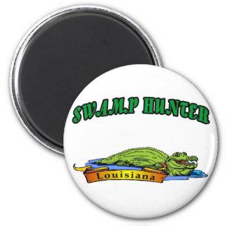 Swamp Hunter Louisiana Magnet