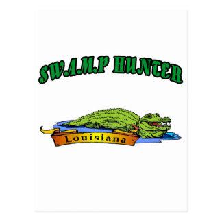 Swamp Hunter Louisiana Postcard