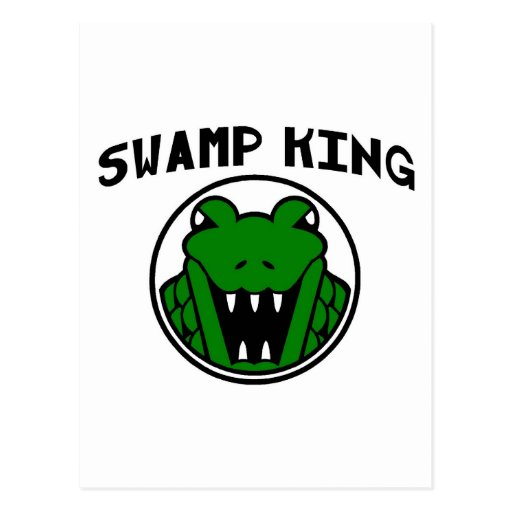 Swamp King Gator Symbol Post Card