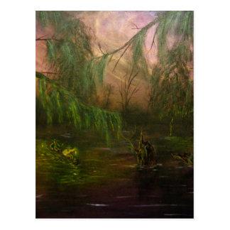 Swamp La Vie: Scouting in Twilight Postcard