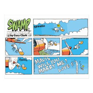 Swamp Marriage Proposal Card Postcard