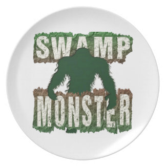 SWAMP MONSTER DINNER PLATES